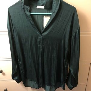 Green silky top by Lush
